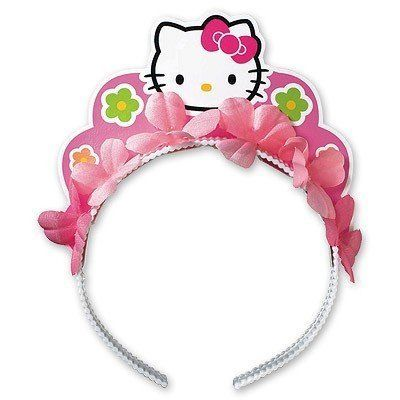 1501-1395 Ободок Hello Kitty Цветы/A