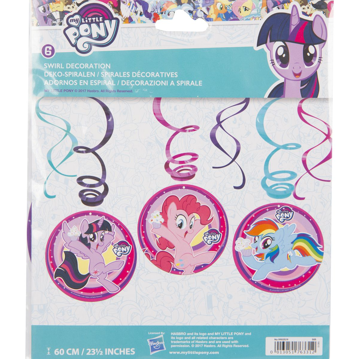 1501-3952 Спираль My Little Pony 46-60см 6шт/A