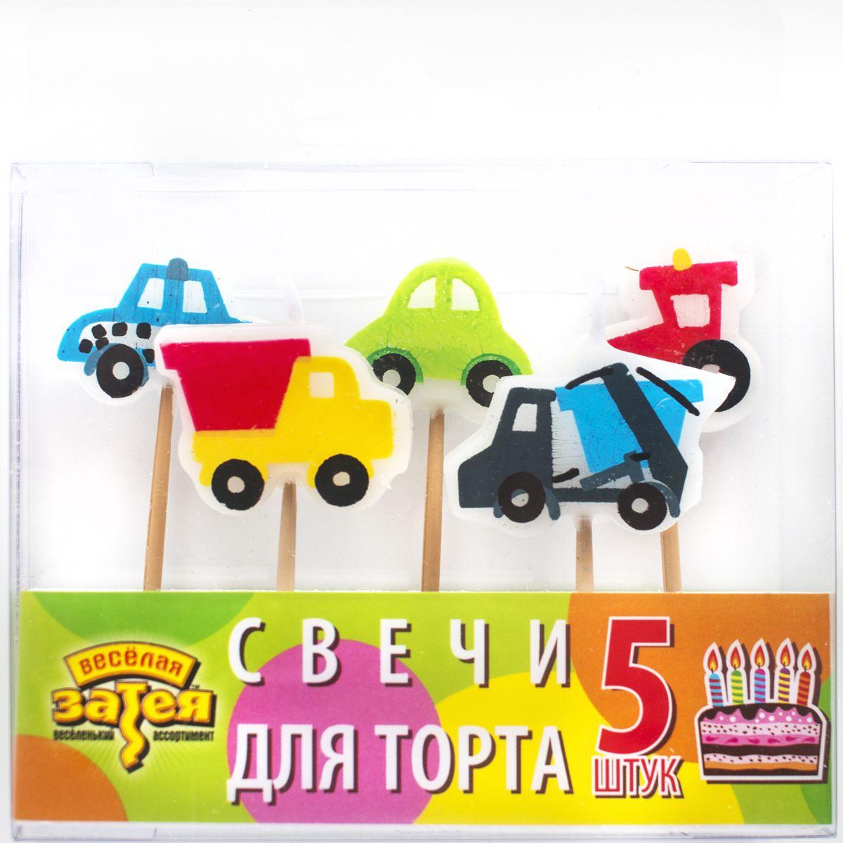 1502-0843 Свечи д/торта на пиках Авто 5шт/A