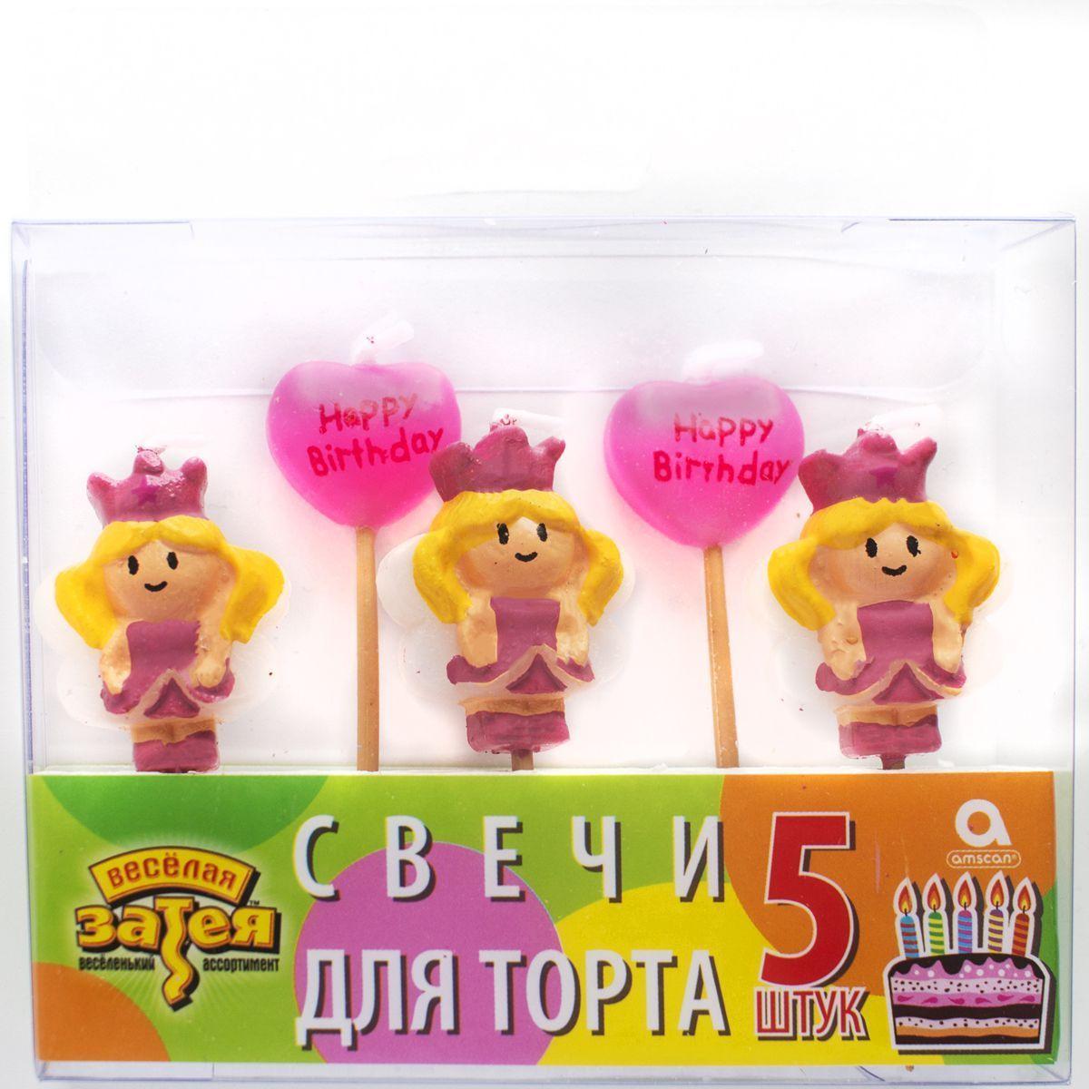 1502-0848 Свечи д/торта на пиках Принцесса НВ5шт/A