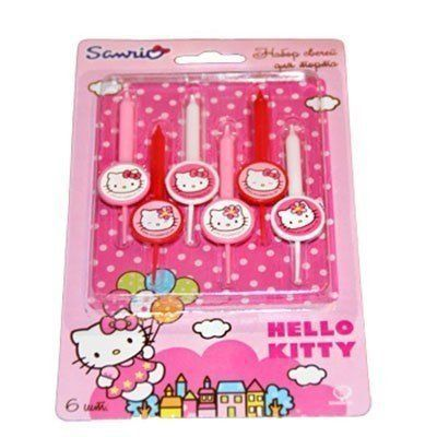 1502-1051 Свечи д/торта Hello Kitty 6шт/A