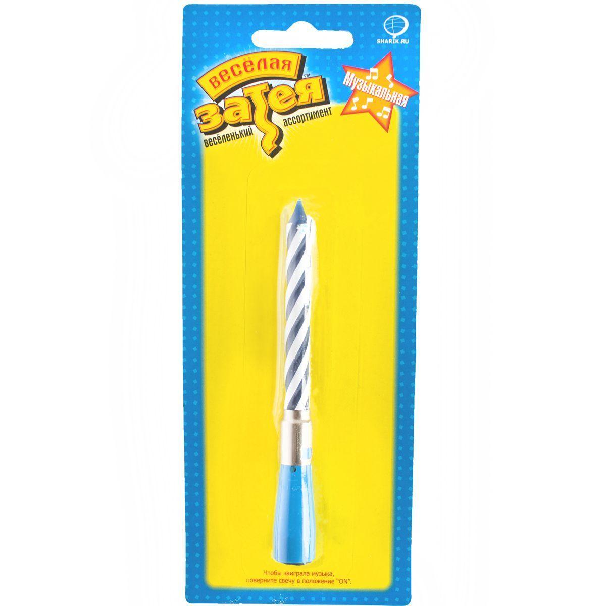 1502-1122 Свеча муз синяя/V