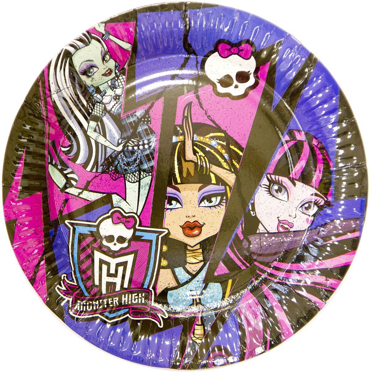 1502-1334 Тарелка Monster High 17см 8шт/A